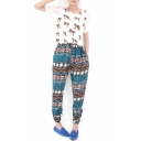 Summer Casual Ethnic Style Print Loose Pants