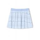 Sweet Summer Lace Crochet Pleated Mini Skirt