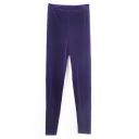 Grape Pleuche Leggings