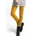 Plain High Waist Cotton Skinny Pencil Leggings