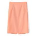 High Waist Back Split Mid Tube Skirt