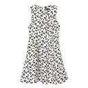 Geometric Butterfly Print Round Neck Sleeveless Tank Dress