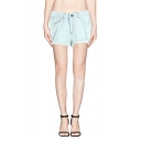 Plain Vintage Color Loose Cuffed Denim Shorts