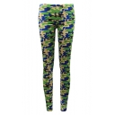 Camouflage Print Summer Elastic Fitted Skinny Leggings