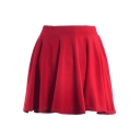 Plain  Ladylike A-line Short Skirt