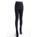 Dark Gray Leggings with Bodycon Skirt Cover