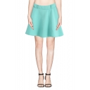 Macaron Color Plain Elastic Waist A-line Skirt