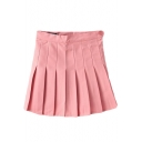 Pink Pleated Tennis Style Skirt