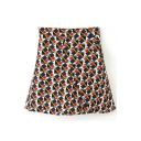 Geometric Print A-Line Mini Skirt