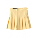Yellow Pleated Tennis Style Skirt