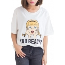 Short Sleeve Ponytail Girl T-Shirt