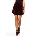 Ruffle Hem Velvet Ruffle Hem Skirt
