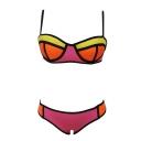 Sexy Color Block Push Up Hipster Bikini