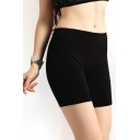 Summer Hot Black High Waist Skinny Thin Short Leggings