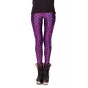 Purple Mermaid Scale Print Shining Leggings