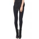 Basic Style Black Skinny Leggings