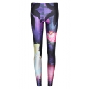 Hot Starry Night Print Skinny Leggings