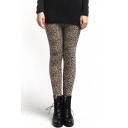 Classic Leopard Print Warm Skinny Leggings