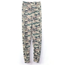 Gray Background Camouflage Print Leggings