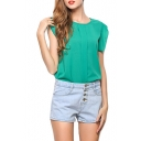 Women's Ruffle Sleeve Chiffon Blouse Shirt