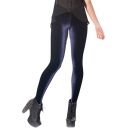 Dark Blue Velvet Leggings
