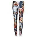 Newly Ladies Head Print Fitted Skinny Leggings