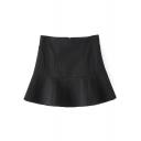 Simple High Waist A-Line Mini Skirt