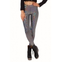 Silver Shining Gilding Fashionable Leggings