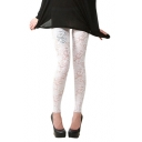 White Lace Cutwork Lady Style Leggings
