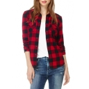 Classic Plaid Pocket Long Sleeve Shirt