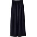 Elastic Waist Chiffon Maxi Skirt