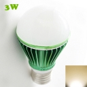 Green 300lm E27 3W  Warm White Light