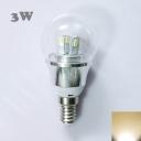85-265V E14 3W Mini LED Ball Bulb  in Silver Fiinish
