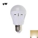 9W 2835SMD E27 Warm White Plastic LED Globe Bulb