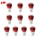 10Pcs E27 5W Cool White Light Red 300lm LED Globe Bulb