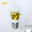 6000K E27 3W 300lm 85-265V  Mini LED Ball Bulb  in Gold Fiinish