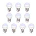 220V E27 7W 10Leds 360°  Cool White Light 10 Packs