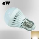 Warm White 180° SMD2835 PC 220V  E27 5W LED Globe Bulb