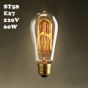 E27 ST58 220V  60W Edison Bulb