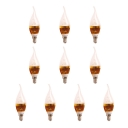 10Pcs 5W Golden  Cool White 180° 550lm E27 Candle Bulb