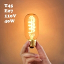 220V 45*112mm T45 E27 40W Edison Bulb