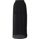 Elegant Side Split Chiffon Longline Skirt