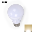 12W E27 Warm White Light LED Globe Bulb
