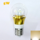 300lm 5W 85-265V E27 Mini LED Ball Bulb  in Gold Fiinish