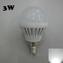 PC 220V 180° SMD2835  Cool White  E14 3W LED Globe Bulb