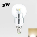 3W 3Leds E27 LED Globe Bulb  Warm White