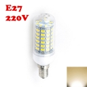 2850K 220V E27 6W Clear LED Corn Bulb
