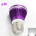 3W Purple 300lm E27  Cool White Light LED Bulb
