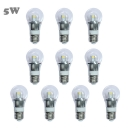 10Pcs 6000K 5W 85-265V E27 Mini LED Ball Bulb  in Silver Fiinish