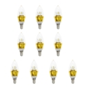 10Pcs  Warm White E14-5730 AC85-265V 5W LED Candle Bulb